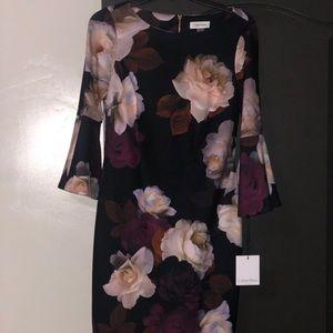 BRAND NEW CALVIN KLEIN FLORAL DRESS